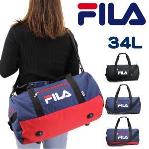 FILA(フィラ) スターリッシュ ロールボストンバッグ ショルダーバッグ 斜め掛けバッグ 2WAY 34L 7611 メンズ レディース ジュニア|watermode