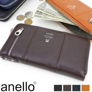 anello(アネロ) PremiumClasp ラウンドファスナー長財布 小銭入れあり AU-D0691 メンズ 正規品|watermode