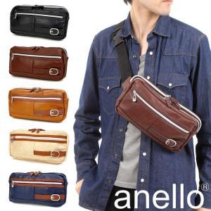 anello (アネロ) 薄マチボディバッグ ウエストバッグ 2WAY AU-N0321 メンズ レディース 男女兼用 正規品|watermode