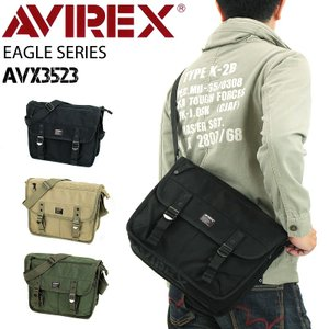 AVIREX(アヴィレックス) EAGLE(イーグル) ショルダーバッグ 斜め掛けバッグ A4 AV...