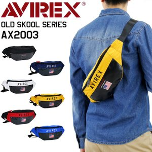 AVIREX(アヴィレックス) OLD SKOOL(オールドスクール) ボディバッグ 斜め掛けバッグ...