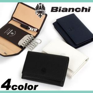 Bianchi(ビアンキ) franco(フランコ) キーケース 6連 小銭入れ付き パス収納付き ...