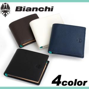 d7923f846e16 Bianchi ビアンキ franco フランコ 二つ折り財布 小銭入れあり 財布 さいふ サイフ 小物 牛革 レザー メンズ BIA1004