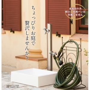 水栓柱 立水栓 2口 水道 エクステリア ガーデニング<br>庭 DIY 蛇口 屋外水栓<br>前澤...