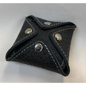 オリジナル 革製品 エゾ鹿革コインケース (4HOCKS)|wave-original-y