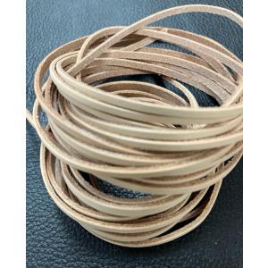 レザークラフト革紐 牛ヌメ革レース3mm巾(2mm厚) wave-original-y