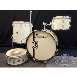 Slingerland【委託ヴィンテージ】1970's White Marine Pearl 4pcs.【お茶の水ドラムコネクション在庫品】 wavehouse