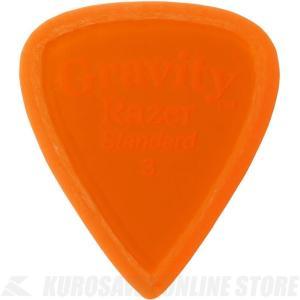 GRAVITY GUITAR PICKS GRAS3M (3.0mm, Orange, Master...