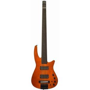 NS Design RADIUS5 Bass Fletless(Amber Satin)(フレットレスベース)(送料無料)(ストラップラバープレゼント)(ご予約受付中)【ONLINE STORE】|wavehouse