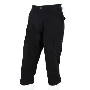 裾ベルト付き クロップドパンツ ブラック|waveone
