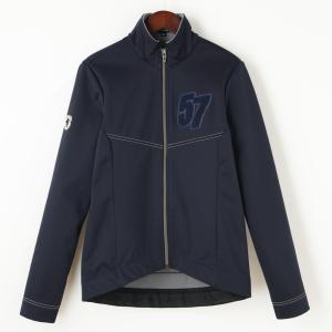 Ladies ウインドシールド57ジャケット サガラ刺繍 ネイビー waveone