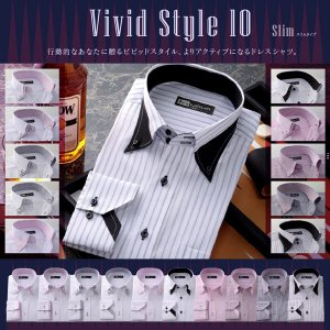ワイシャツ 長袖 メンズ クールビズ カッターシャツ 10種...