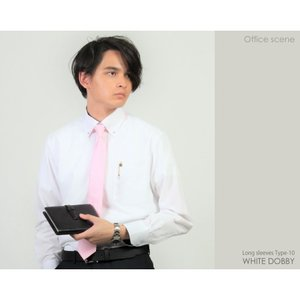 ワイシャツ 長袖 メンズ クールビズ カッターシャツ ホワイトドビー 10種類2タイプから選べる ビジネス カジュアル|wawajapan|16