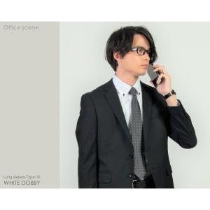 ワイシャツ 長袖 メンズ クールビズ カッターシャツ ホワイトドビー 10種類2タイプから選べる ビジネス カジュアル|wawajapan|17