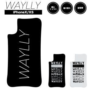 ドレッサーのみ iPhone XS X ケース スマホケース メインロゴ 耐衝撃 シンプル おしゃれ くっつく ウェイリー WAYLLY DRR|waylly