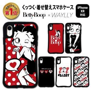 iPhone XR ケース スマホケース ベティ 耐衝撃 シンプル おしゃれ くっつく ウェイリー WAYLLY _MK_|waylly