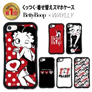 iPhone 8 7 XR XS X SE 6s 6 Plus XsMax 11 pro max ケース スマホケース ベティ 耐衝撃 シンプル おしゃれ くっつく ウェイリー WAYLLY _MK_|waylly