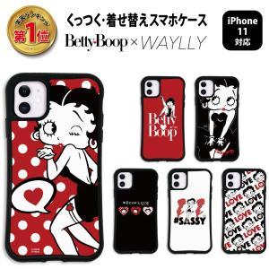 iPhone11 ケース スマホケース ベティ 耐衝撃 シンプル おしゃれ くっつく ウェイリー WAYLLY _MK_|waylly