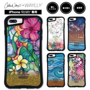 iPhone 7Plus 8Plus 6Plus 6sPlus ケース スマホケース Colleen Malia Wilcox 耐衝撃 シンプル おしゃれ くっつく ウェイリー WAYLLY _MK_|waylly