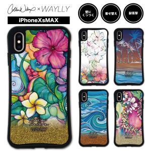 iPhone XS Max ケース スマホケース Colleen Malia Wilcox 耐衝撃 シンプル おしゃれ くっつく ウェイリー WAYLLY _MK_|waylly