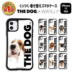iPhone11 ケース スマホケース THEDOG 耐衝撃 シンプル おしゃれ くっつく ウェイリー WAYLLY _MK_|waylly