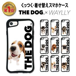 iPhone 8 7 XR XS X 6s 6 11 pro  ケース スマホケース THEDOG 耐衝撃 シンプル おしゃれ くっつく ウェイリー WAYLLY _MK_|waylly