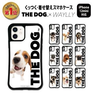 iPhone12 mini ケース スマホケース THEDOG 耐衝撃 シンプル おしゃれ くっつく ウェイリー WAYLLY _MK_|waylly