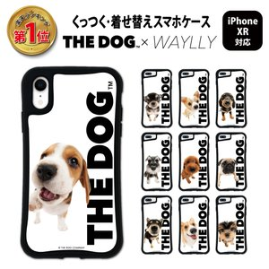 iPhone XR ケース スマホケース THEDOG 耐衝撃 シンプル おしゃれ くっつく ウェイリー WAYLLY _MK_|waylly