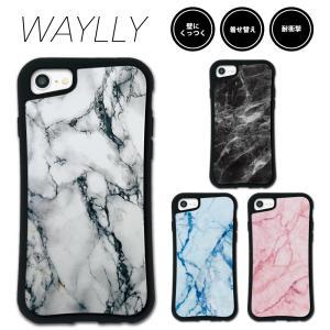 iPhone 8 7 XR XS X SE 6s 6 Plus XsMax 11 pro max ケース スマホケース 大理石 耐衝撃 シンプル おしゃれ くっつく ウェイリー WAYLLY _MK_|waylly