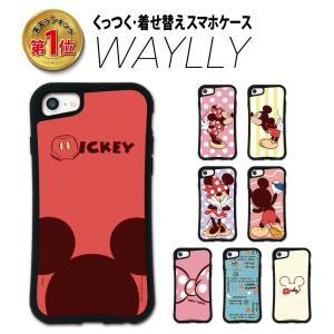 iPhone 8 7 XR XS X 6s 6 Plus XsMax ケース スマホケース ディズニーキャラクター 耐衝撃 シンプル おしゃれ くっつく ウェイリー WAYLLY _MK_|waylly