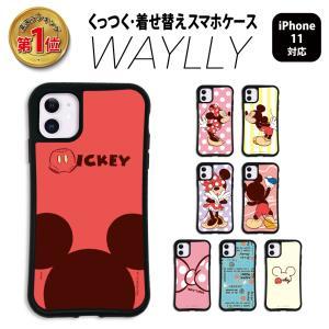 iPhone11Pro ケース スマホケース ディズニー 耐衝撃 シンプル おしゃれ くっつく ウェイリー WAYLLY _MK_|waylly