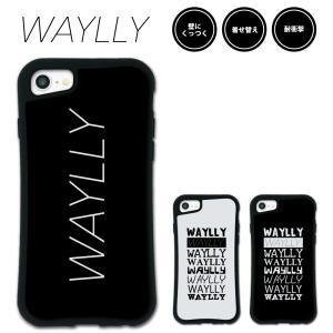 iPhone 8 7 XR XS X SE 6s 6 Plus XsMax 11 pro max 12 mini ケース スマホケース メインロゴ 耐衝撃 シンプル おしゃれ くっつく ウェイリー WAYLLY _MK_|waylly