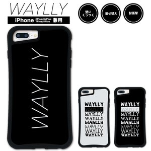 iPhone 7Plus 8Plus 6Plus 6sPlus ケース スマホケース メインロゴ 耐衝撃 シンプル おしゃれ くっつく ウェイリー WAYLLY _MK_|waylly