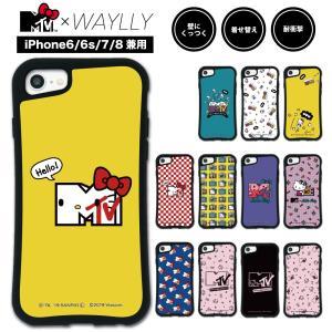 iPhone8 7 6s 6 ケース スマホケース  MTV×ハローキティ 耐衝撃 シンプル おしゃれ くっつく ウェイリー WAYLLY _MK_|waylly