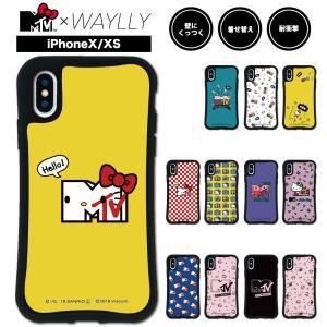 iPhone XS X ケース スマホケース  MTV×ハローキティ 耐衝撃 シンプル おしゃれ くっつく ウェイリー WAYLLY _MK_|waylly