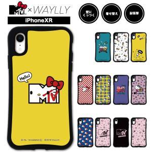 iPhone XR ケース スマホケース  MTV×ハローキティ 耐衝撃 シンプル おしゃれ くっつく ウェイリー WAYLLY _MK_|waylly