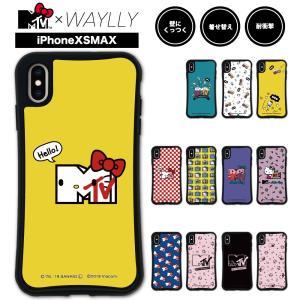 iPhone XS Max ケース スマホケース  MTV×ハローキティ 耐衝撃 シンプル おしゃれ くっつく ウェイリー WAYLLY _MK_|waylly