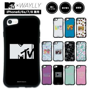 iPhone8 7 6s 6 ケース スマホケース MTVオリジナル 耐衝撃 シンプル おしゃれ くっつく ウェイリー WAYLLY _MK_|waylly