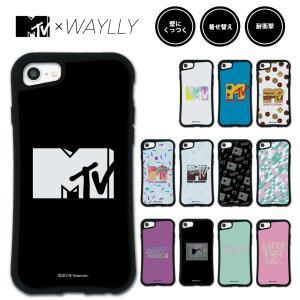 iPhone 8 7 XR XS X 6s 6 Plus XsMax ケース スマホケース MTVオリジナル 耐衝撃 シンプル おしゃれ くっつく ウェイリー WAYLLY _MK_|waylly