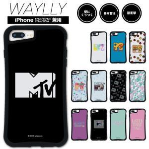 iPhone 7Plus 8Plus 6Plus 6sPlus ケース スマホケース MTVオリジナル 耐衝撃 シンプル おしゃれ くっつく ウェイリー WAYLLY _MK_|waylly