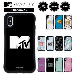 iPhone XS X ケース スマホケース MTVオリジナル 耐衝撃 シンプル おしゃれ くっつく ウェイリー WAYLLY _MK_|waylly