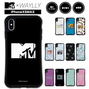 iPhone XS Max ケース スマホケース MTVオリジナル 耐衝撃 シンプル おしゃれ くっつく ウェイリー WAYLLY _MK_|waylly