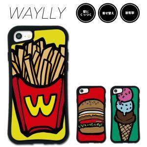iPhone 8 7 XR XS X SE 6s 6 Plus XsMax 11 pro max ケース スマホケース ポップフード 耐衝撃 シンプル おしゃれ くっつく ウェイリー WAYLLY _MK_|waylly