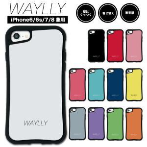 iPhone8 7 6s 6 ケース スマホケース スモールロゴ 耐衝撃 シンプル おしゃれ くっつく ウェイリー WAYLLY _MK_|waylly