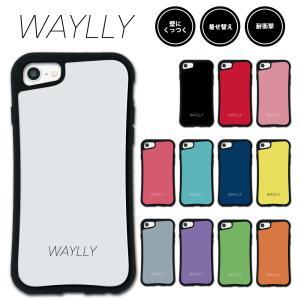iPhone 8 7 XR XS X SE 6s 6 Plus XsMax 11 pro max ケース スマホケース スモールロゴ 耐衝撃 シンプル おしゃれ くっつく ウェイリー WAYLLY _MK_|waylly