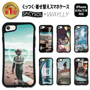 iPhone8 7 6s 6 ケース スマホケース SPiCYSOL 耐衝撃 シンプル おしゃれ くっつく ウェイリー WAYLLY _MK_ waylly