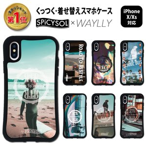 iPhone XS X ケース スマホケース SPiCYSOL 耐衝撃 シンプル おしゃれ くっつく ウェイリー WAYLLY _MK_|waylly