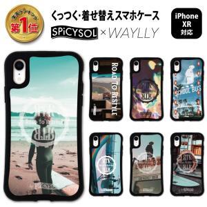 iPhone XR ケース スマホケース SPiCYSOL 耐衝撃 シンプル おしゃれ くっつく ウェイリー WAYLLY _MK_|waylly