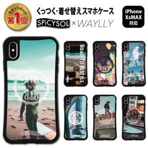 iPhone XS Max ケース スマホケース SPiCYSOL 耐衝撃 シンプル おしゃれ くっつく ウェイリー WAYLLY _MK_|waylly