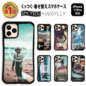 iPhone11 Pro ケース スマホケース SPiCYSOL 耐衝撃 シンプル おしゃれ くっつく ウェイリー WAYLLY _MK_|waylly